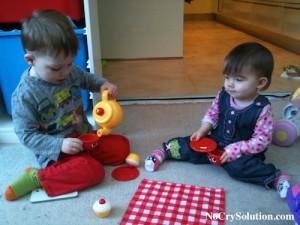 Elliott, 3 years and Matilda, 1 year