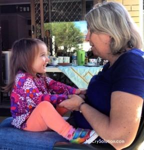 Mary Beth with Grandma