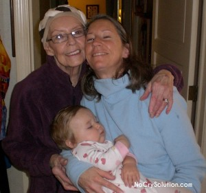 Zoe with Mom and Grandma
