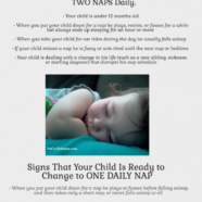 When to Change from Two Naps to One Nap